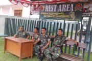 Koramil Klampis Bangkalan, Siapkan Rest Area Untuk Pemudik