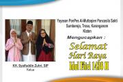KH. Syaifuddin Zuhri, SIP Mengucapkan Selamat Hari Raya Idul Fitri