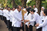 Halal Bihalal, Kepala Bakamla RI Hampiri Seluruh Personel di Lapangan Apel