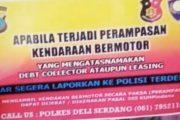 """Polres Deli Serdang Bagikan Stiker, Debt Collector Tarik Paksa Kendaraan """"Laporkan"""""""