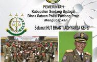 Dinas Satpol PP Serdang Bedagai Ucapkan Selamat HUT BHAKTI ADHYAKSA KE- 57