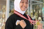 Siswi SMPN Di Ngawi Raih Emas Pada Cabang Pencak Silat O2SN