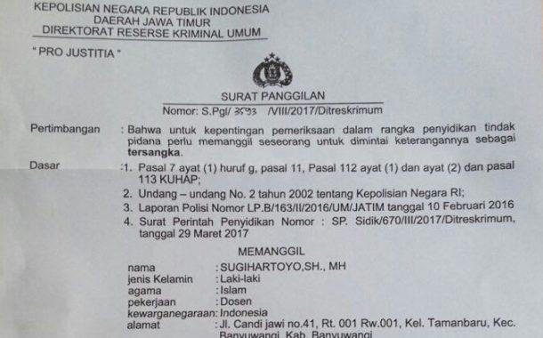 Jadi Tersangka Kasus Penggelapan, Ketua Perpenas Sugihartoyo Didampingi Pengacara Surabaya