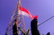 Kodim Gresik Kibarkan Merah Putih Raksasa Di Bukit Putri Cempo