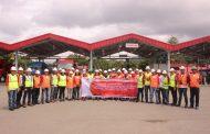 Peserta UKW Bersama SKK Migas Kunjungi TBBM Wayame Basya