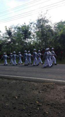 Peringati HUT kemerdekaan ke 72 Pemerintah Desa Tulungrejo Gelar Lomba Gerak Jalan