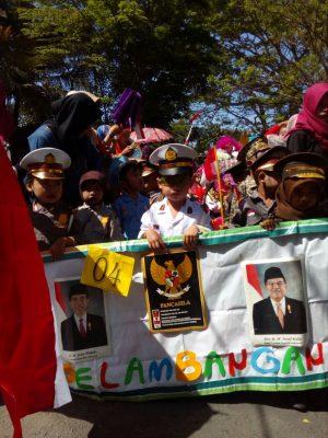 Karnaval TK tingkat kecamatan Tegaldlimo meriahkan HUT kemerdekaan RI