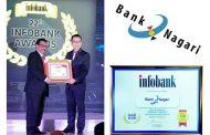 """Terima Infobank Awards 2017, Bank Nagari Berpredikat """" Sangat Bagus"""""""