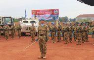 Satgas Kizi TNI Konga XXXVII-C Memperingati HUT RI ke-72 di Afrika Tengah
