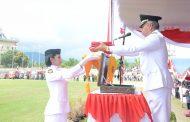 Pengibaran Bendera di Kota Ternate Sukses