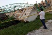 Crane LRT Palembang Roboh, Warga Luka – luka Ruko dan Rumah Warga Rusak Berat