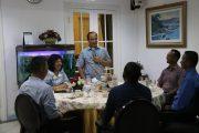 Kasal Makan Malam Bersama Personel Satgas MTF TNI