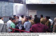 Akses Jalan Terganggu, Komisi I DPRD Padang Tinjau Pemagaran di Jalan Kali Kecil