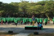 Olahraga Bersama Persit KCK Cabang XX Brigif PR 3 Kostrad