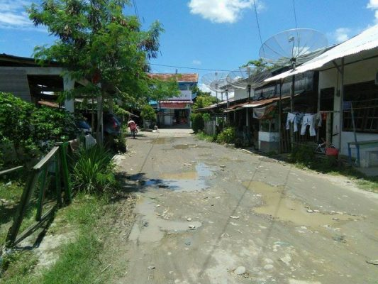 Sepanjang 15 Meter Jalan Geudong Sagoe Kondisinya Rusak Parah