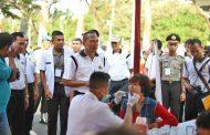 Siswa Inspektur Polisi Gelar Aksi di Keramaian Car Free Day