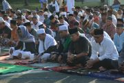 Prajurit Korem 171/PVT Laksanakan Sholat Ied Idul Adha 1438 H