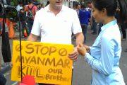 Sam Aliano Kembali Demo di Depan Kedubes Myanmar