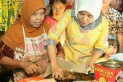 Wawako Palembang Kunjungi Pedagang Pasar Tradisional