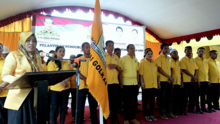 Ketua DPD II Golkar Halbar Bersama Pengurus Resmi Dilantik