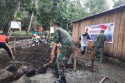 Kodim Tidore Bersama Warga  Bangun Mushola dan  MCK di Pulau Maitara