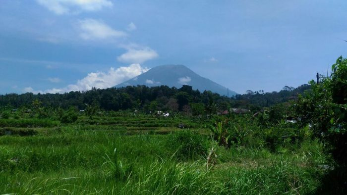 It could be the eruption of Gunung Agung this time is small