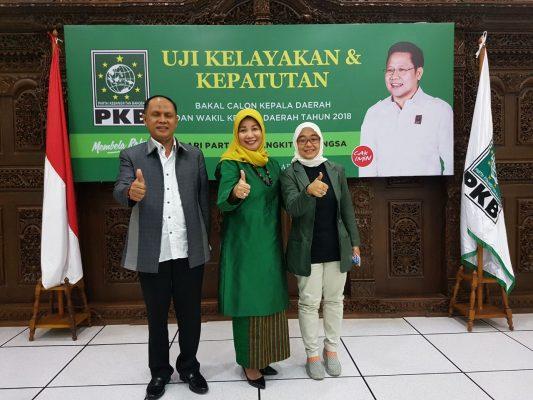 Pilkada Polman 2018: Chuduriah Sahabuddin  Jalani Uji Kelayakan  di PKB Pusat