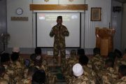 Pasukan Garuda Gelar Tasyakuran Kenaikan Pangkat di Afrika Tengah