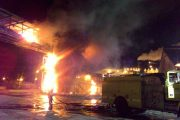 Pelabuhan Pengeringan Dan Pengiriman Konsentrat PT.Freeport Amamapare Porstite Terbakar